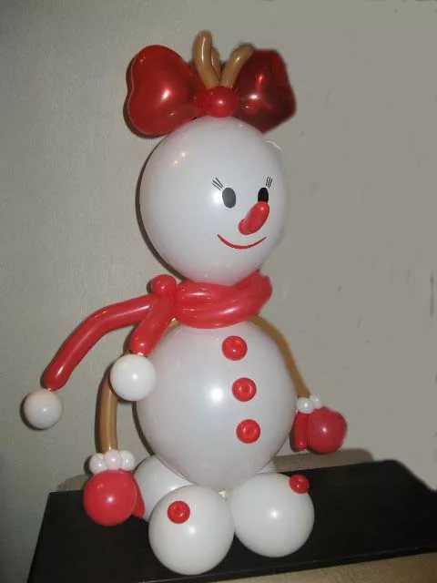 Снеговик своими руками из воздушных шаров своими руками